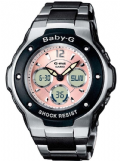 Casio MSG-300C-1BER Baby-G Pink Dial Alarm Analogue/Digital Watch